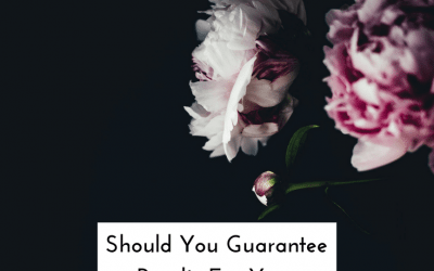 Should You Guarantee Results For Your Clients?
